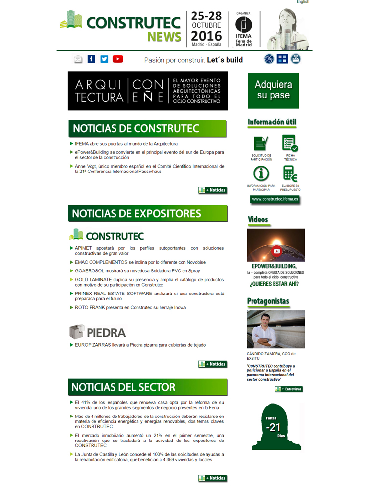 Newsletter de IFEMA